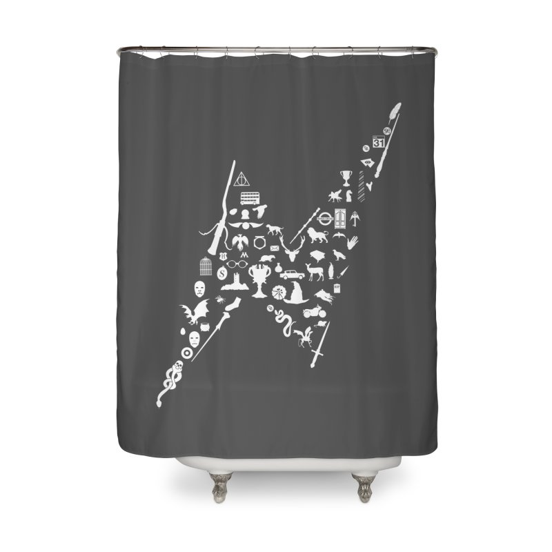 Tee Which Must Not Be Named Home Shower Curtain by Quick Brown Fox