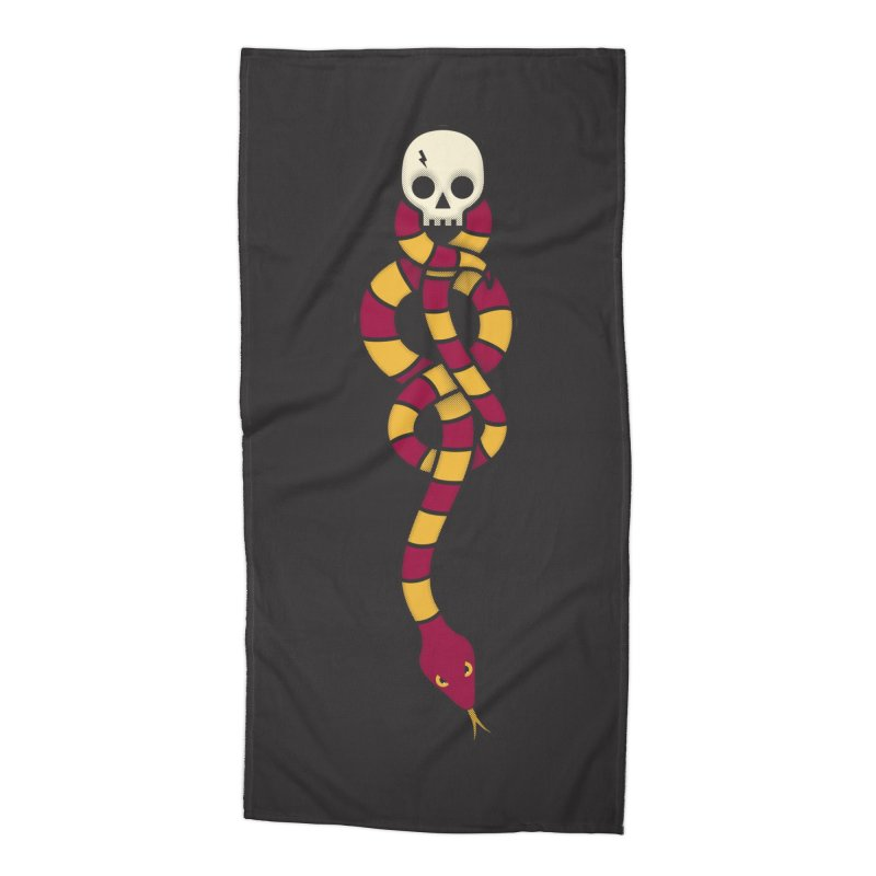 The Dark Scarf - Courage Accessories Beach Towel by Quick Brown Fox