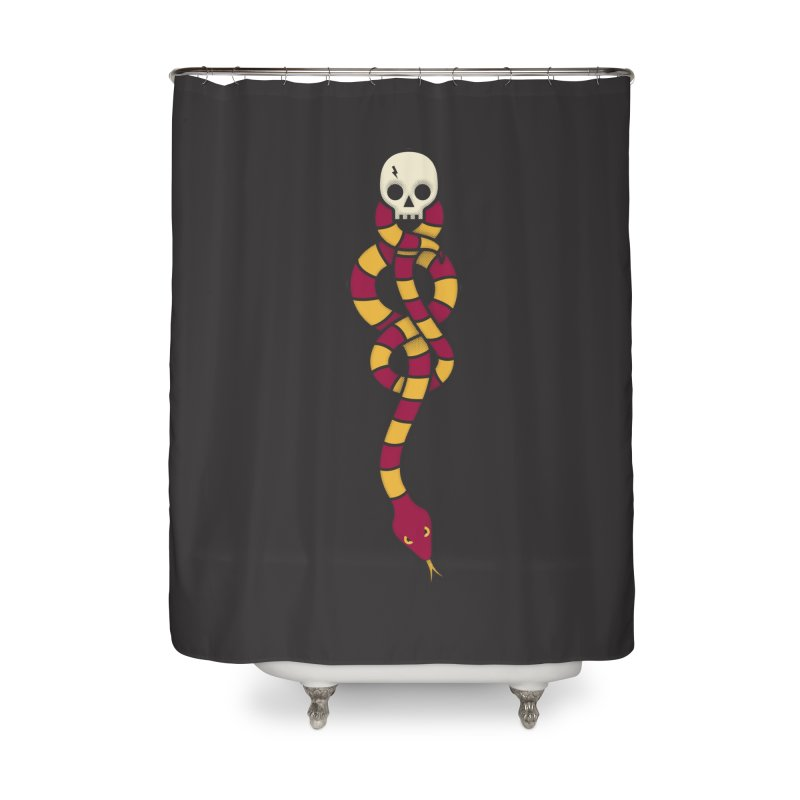 The Dark Scarf - Courage Home Shower Curtain by Quick Brown Fox