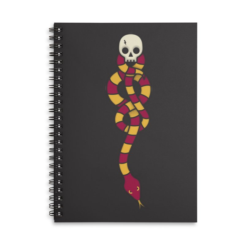The Dark Scarf - Courage Accessories Lined Spiral Notebook by Quick Brown Fox