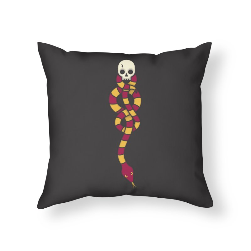 The Dark Scarf - Courage Home Throw Pillow by Quick Brown Fox