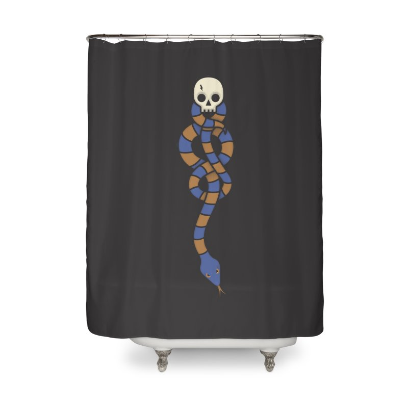 The Dark Scarf - Intelligence Home Shower Curtain by Quick Brown Fox
