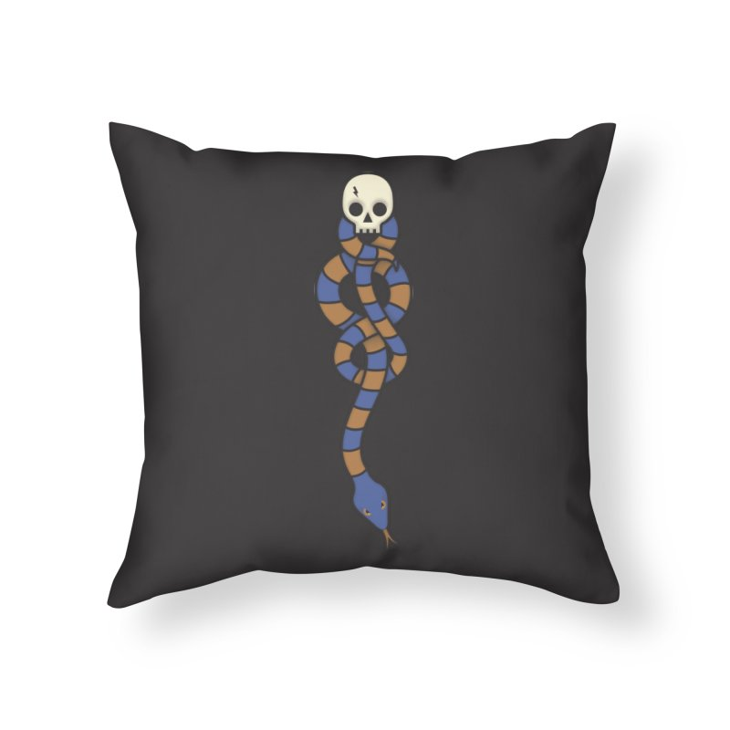 The Dark Scarf - Intelligence Home Throw Pillow by Quick Brown Fox