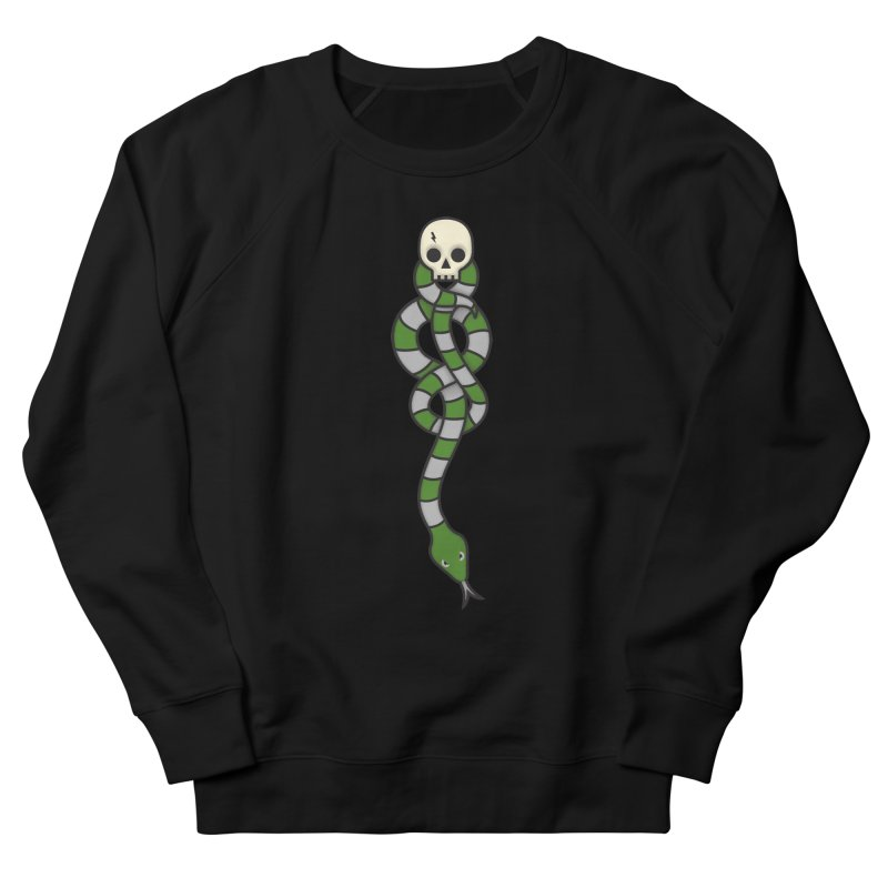 The Dark Scarf - Cunning Women's French Terry Sweatshirt by Quick Brown Fox