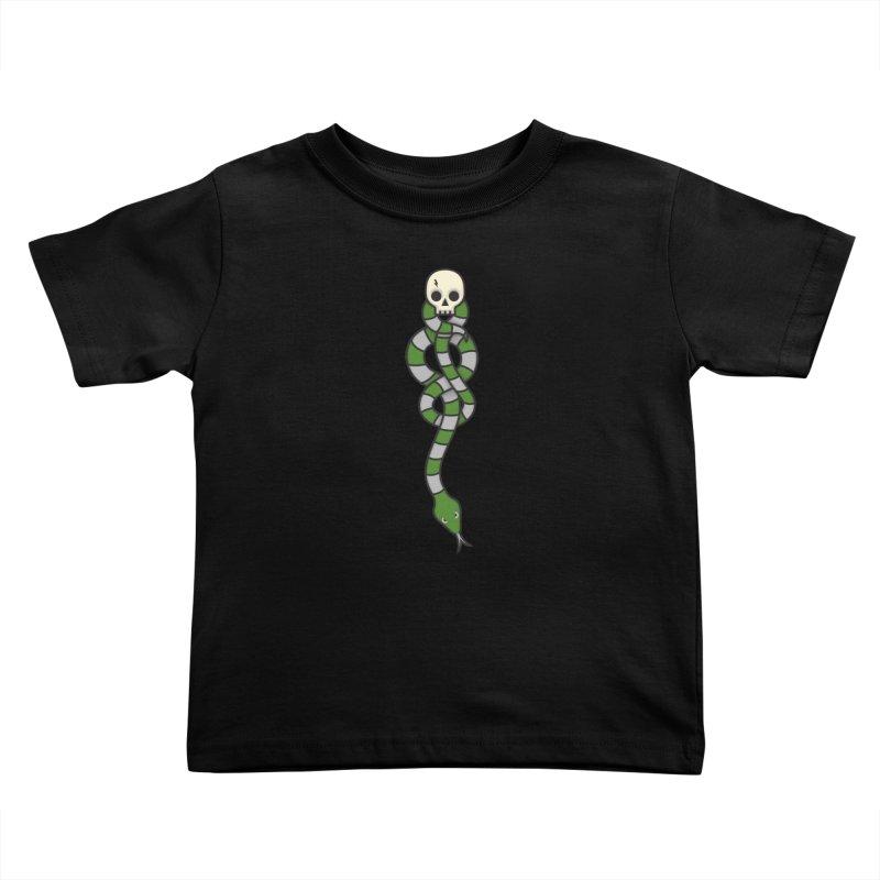 The Dark Scarf - Cunning Kids Toddler T-Shirt by Quick Brown Fox
