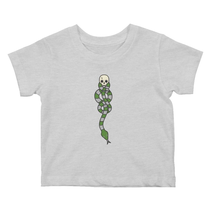 The Dark Scarf - Cunning Kids Baby T-Shirt by Quick Brown Fox