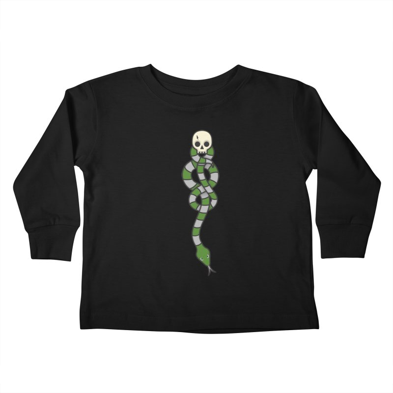 The Dark Scarf - Cunning Kids Toddler Longsleeve T-Shirt by Quick Brown Fox