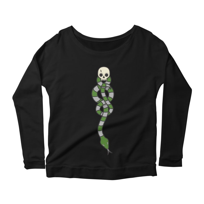 The Dark Scarf - Cunning Women's Scoop Neck Longsleeve T-Shirt by Quick Brown Fox