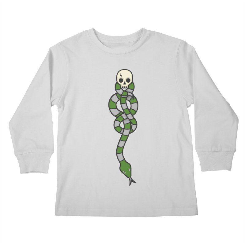 The Dark Scarf - Cunning Kids Longsleeve T-Shirt by Quick Brown Fox