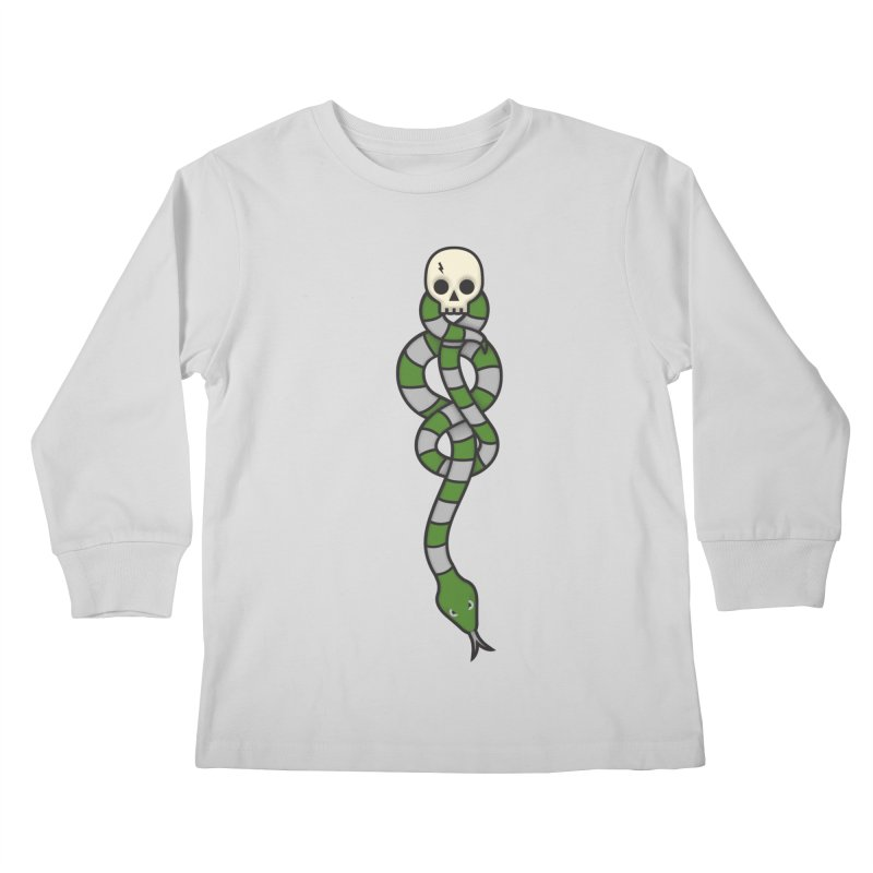 The Dark Scarf - Cunning Kids Longsleeve T-Shirt by Quick Brown Fox