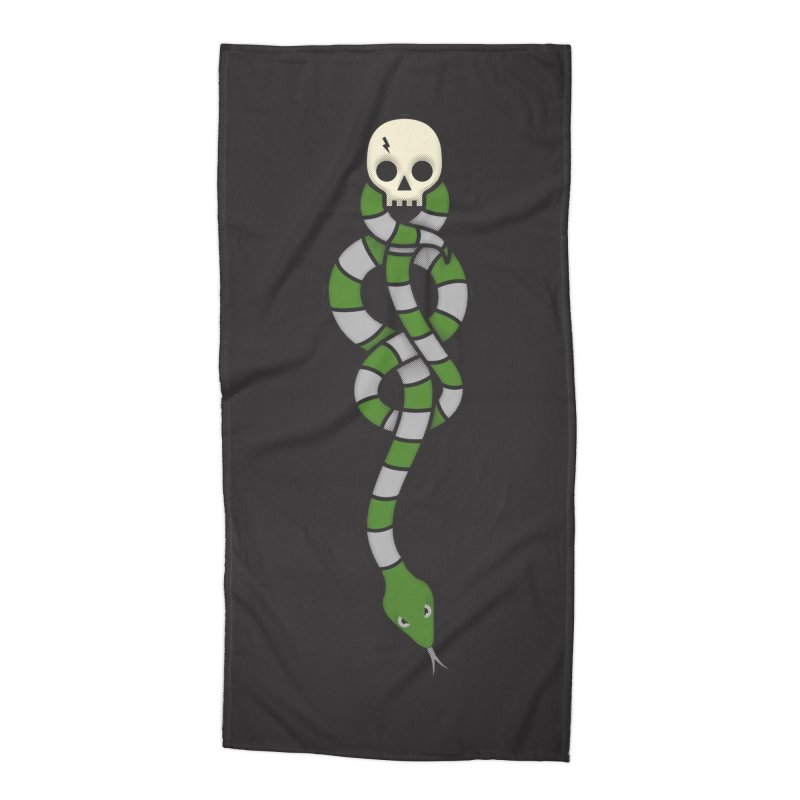 The Dark Scarf - Cunning Accessories Beach Towel by Quick Brown Fox
