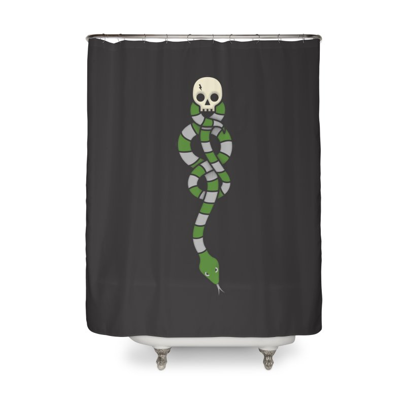 The Dark Scarf - Cunning Home Shower Curtain by Quick Brown Fox