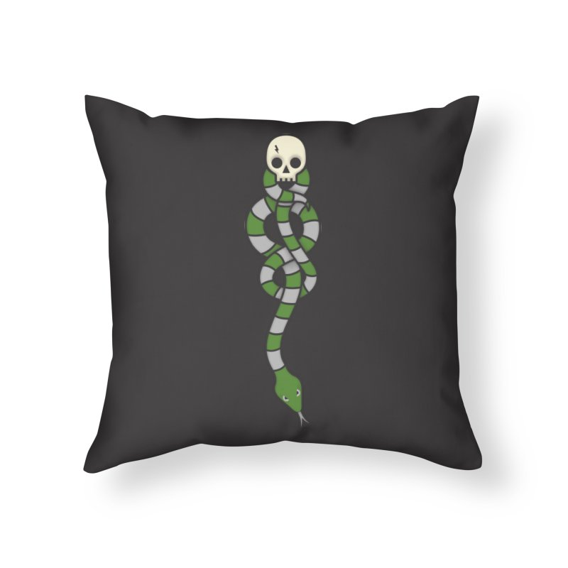 The Dark Scarf - Cunning Home Throw Pillow by Quick Brown Fox