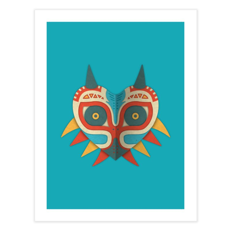 A Legendary Mask Home Fine Art Print by Quick Brown Fox