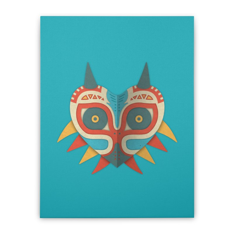 A Legendary Mask Home Stretched Canvas by Quick Brown Fox