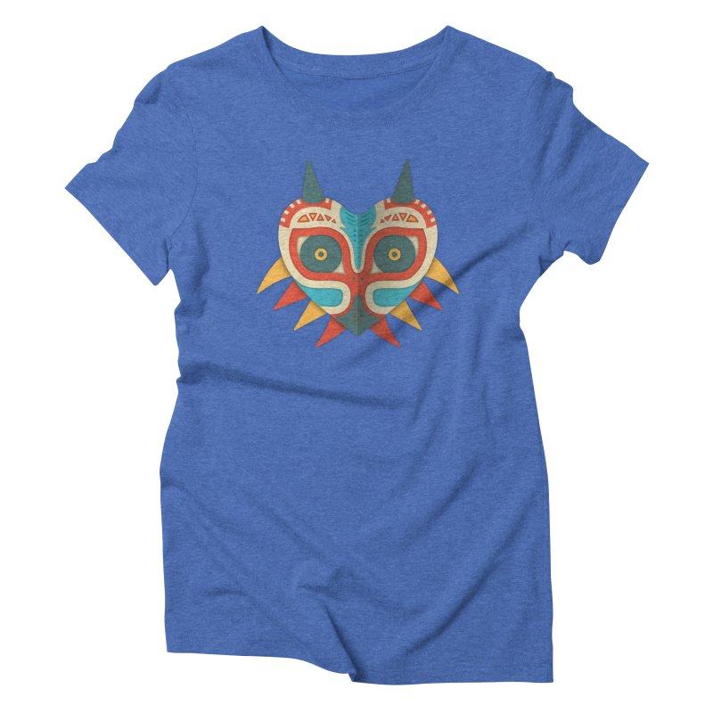A Legendary Mask Women's Triblend T-shirt by Quick Brown Fox