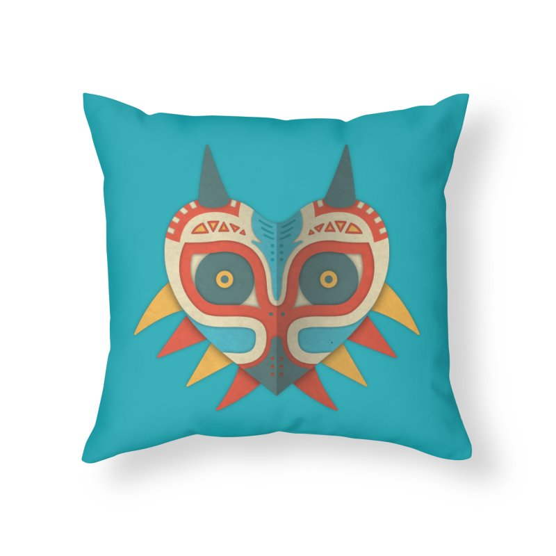 A Legendary Mask Home Throw Pillow by Quick Brown Fox