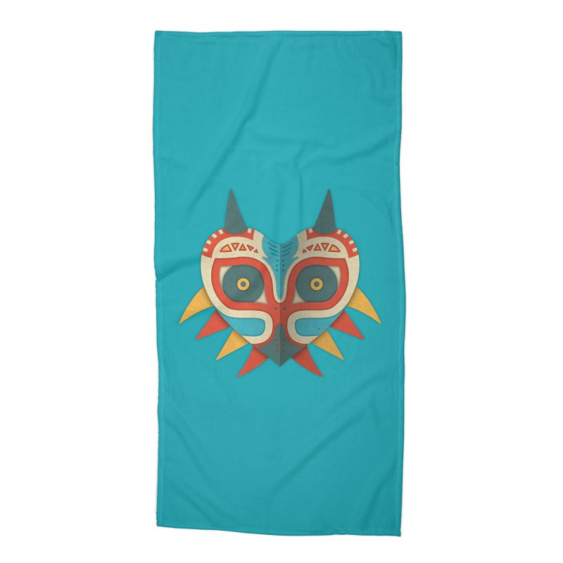 A Legendary Mask Accessories Beach Towel by Quick Brown Fox