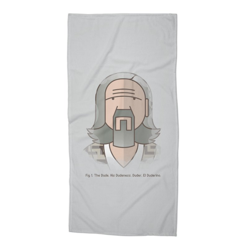 Sometimes There's A Man… Accessories Beach Towel by Quick Brown Fox