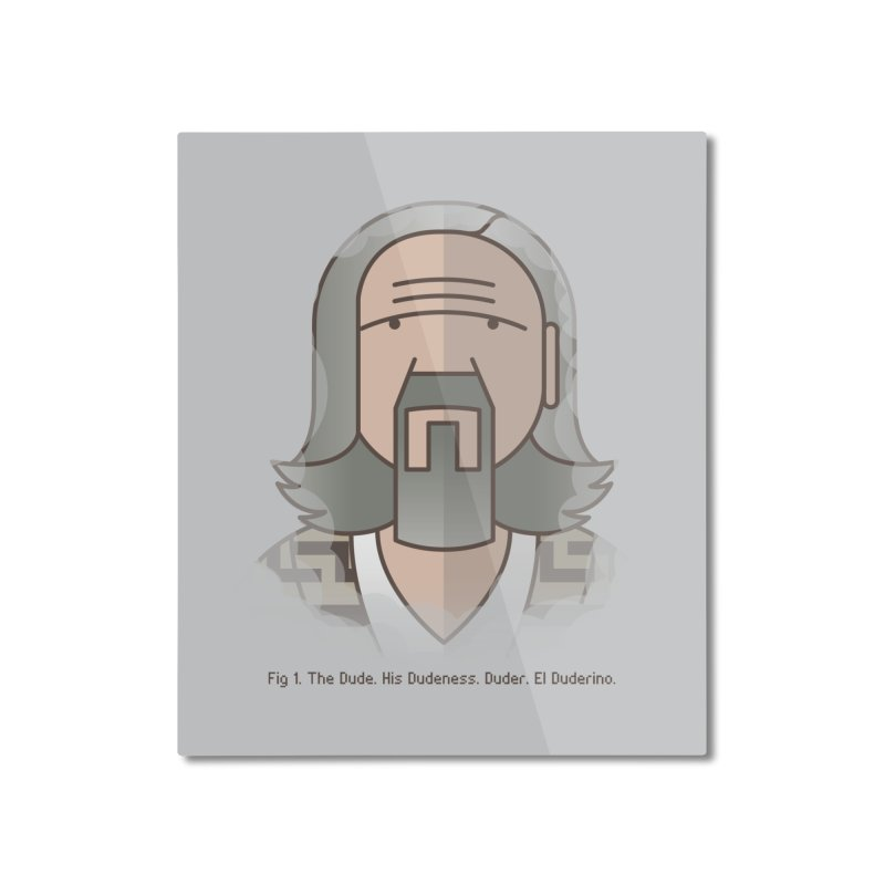 Sometimes There's A Man… Home Mounted Aluminum Print by Quick Brown Fox