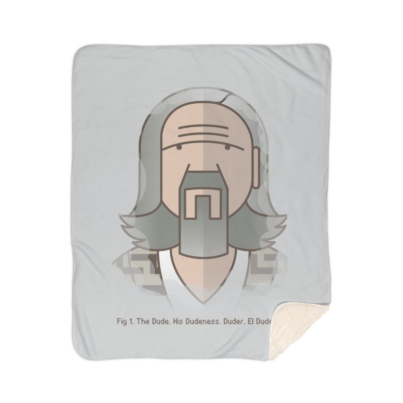Sometimes There's A Man… Home Sherpa Blanket Blanket by Quick Brown Fox