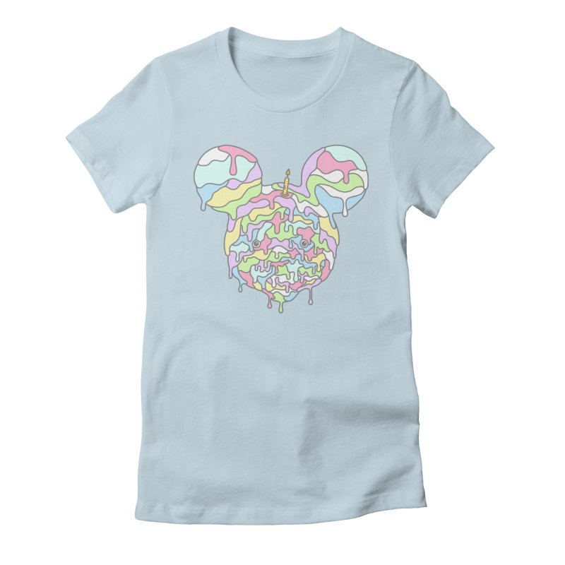 Happy Birthday World! Women's Fitted T-Shirt by Quick Brown Fox