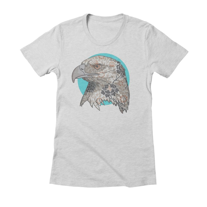 Flora & Fauna Women's Fitted T-Shirt by Quick Brown Fox