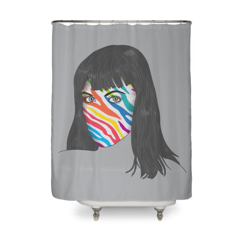 Maybe She's Born With It Home Shower Curtain by Quick Brown Fox