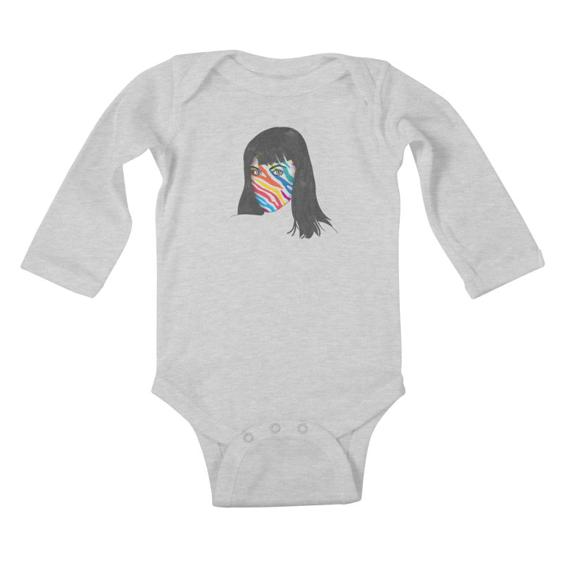 Maybe She's Born With It Kids Baby Longsleeve Bodysuit by Quick Brown Fox
