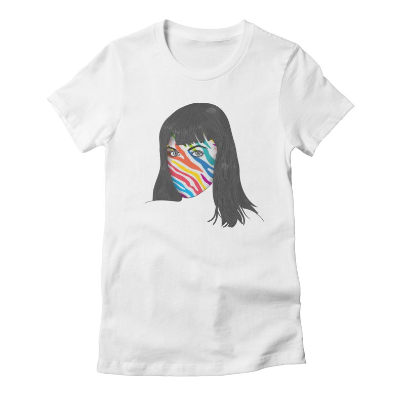 Maybe She's Born With It Women's Fitted T-Shirt by Quick Brown Fox