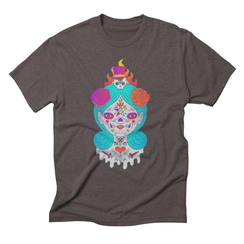 Voodoo Doll Men's Triblend T-Shirt by Quick Brown Fox
