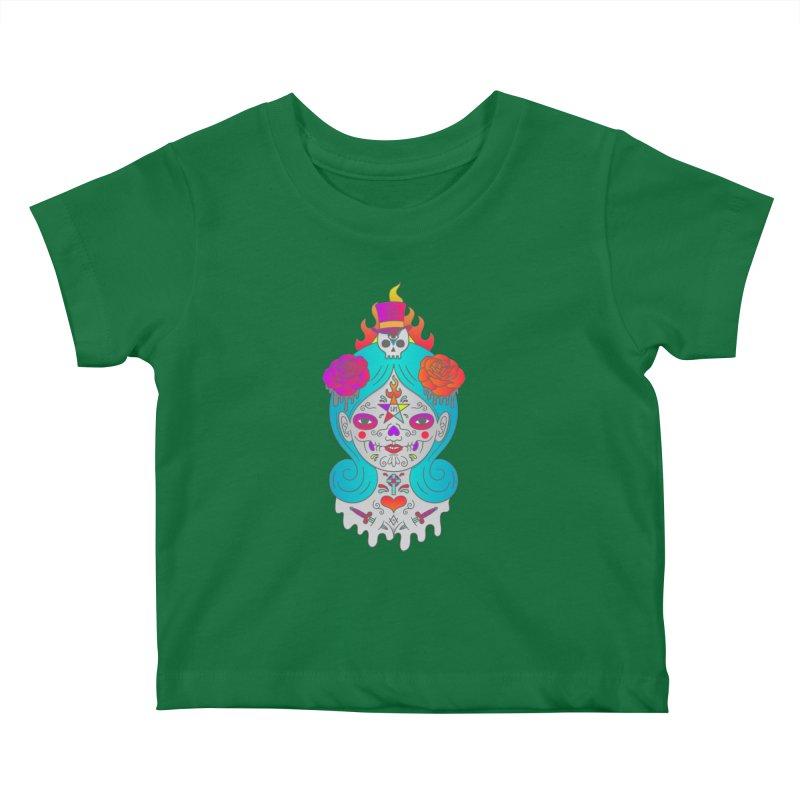 Voodoo Doll Kids Baby T-Shirt by Quick Brown Fox