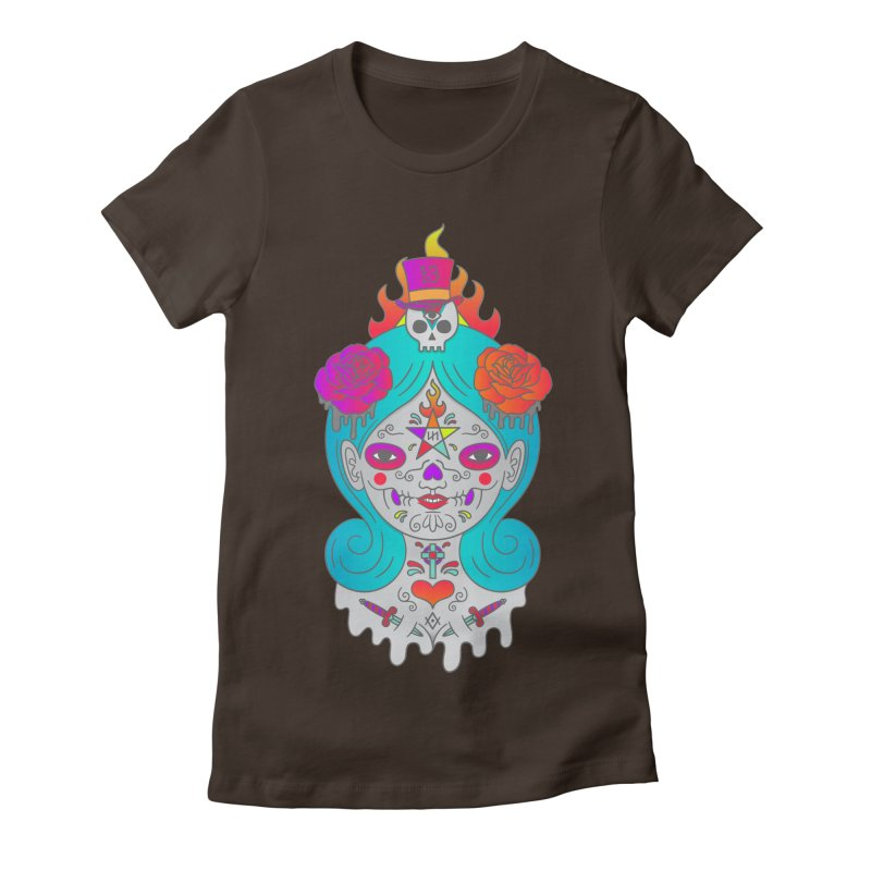 Voodoo Doll Women's Fitted T-Shirt by Quick Brown Fox