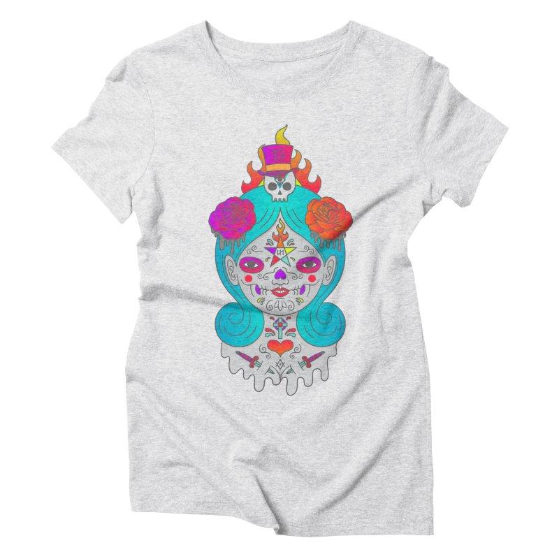Voodoo Doll Women's Triblend T-Shirt by Quick Brown Fox