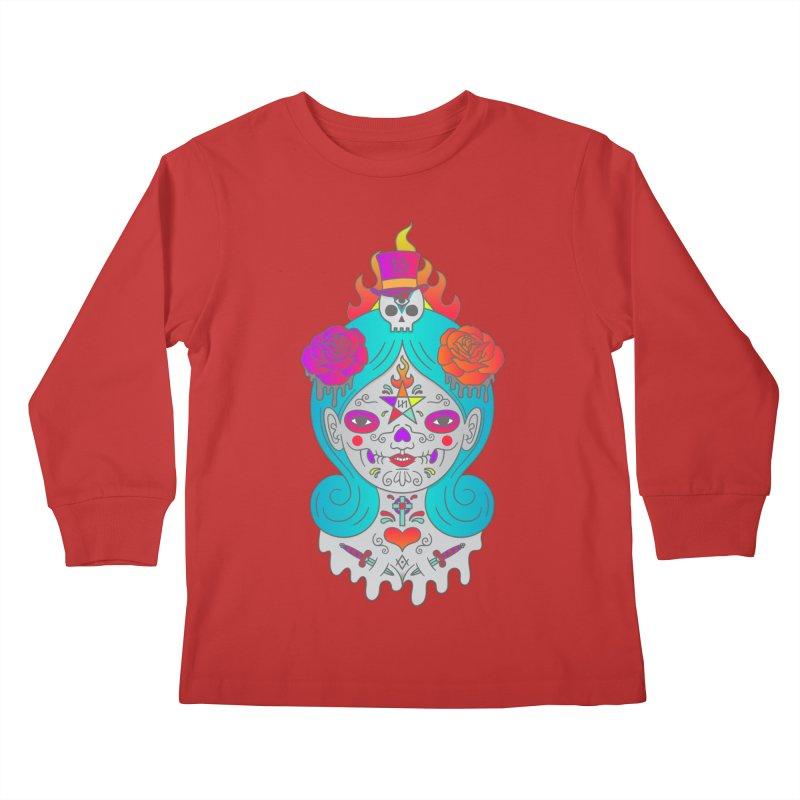 Voodoo Doll Kids Longsleeve T-Shirt by Quick Brown Fox