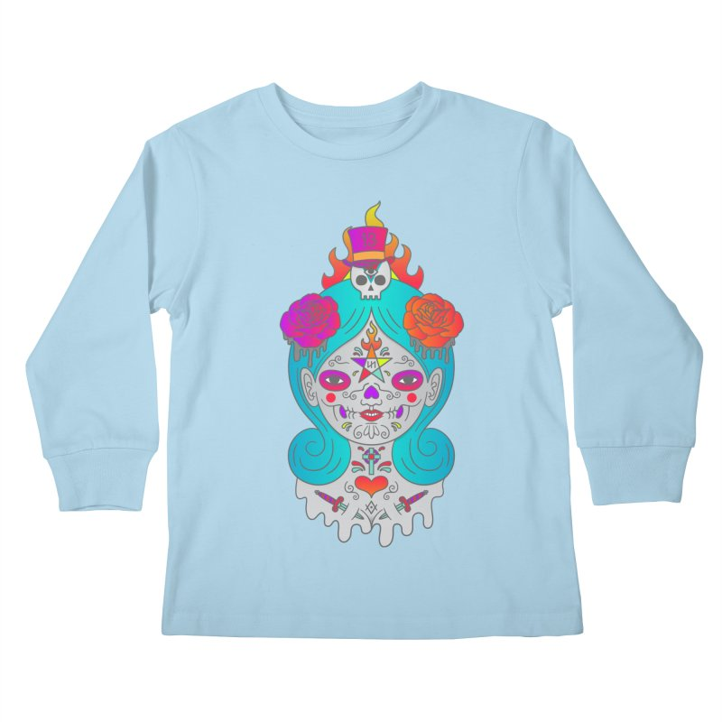 Voodoo Doll Kids Longsleeve T-Shirt by Quick Brown Fox