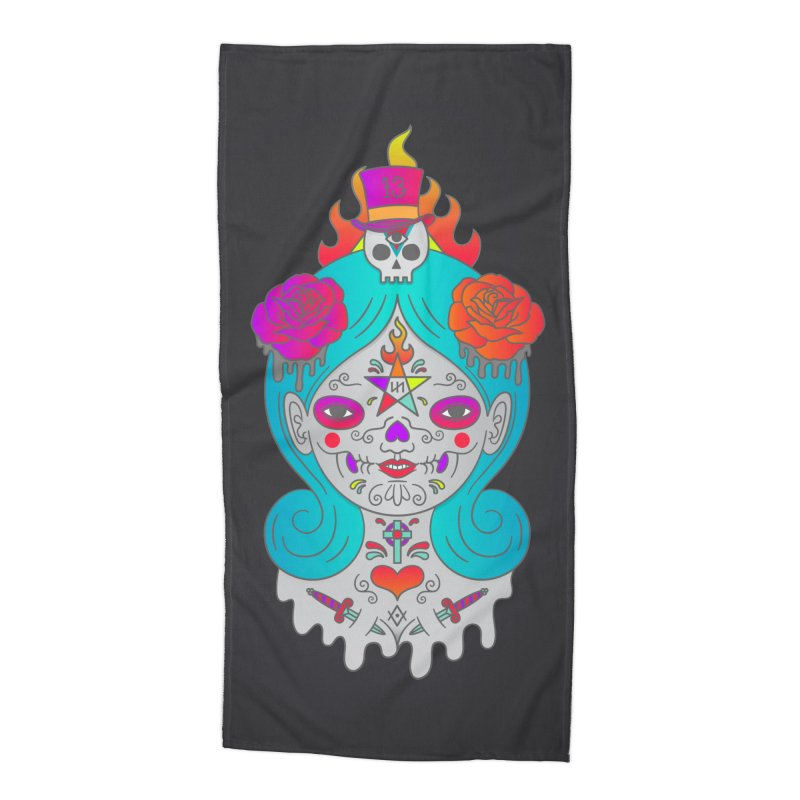 Voodoo Doll Accessories Beach Towel by Quick Brown Fox