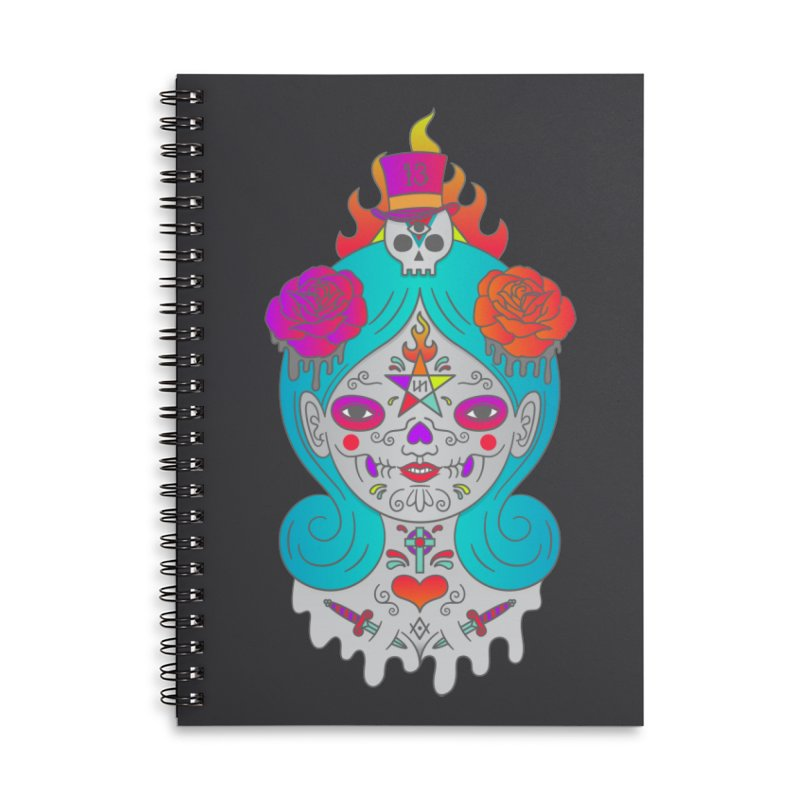 Voodoo Doll Accessories Lined Spiral Notebook by Quick Brown Fox