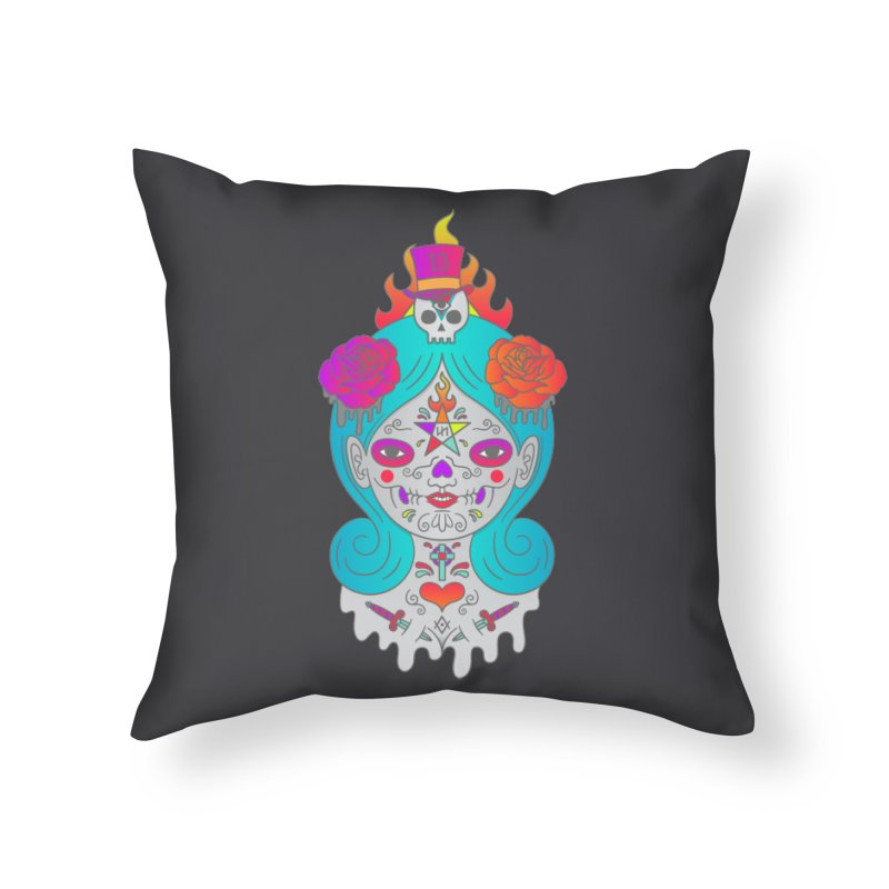 Voodoo Doll Home Throw Pillow by Quick Brown Fox