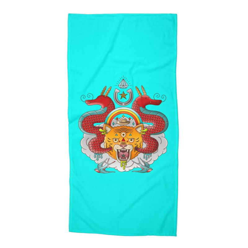 Get Lucky Accessories Beach Towel by Quick Brown Fox