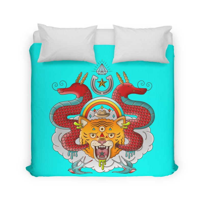 Get Lucky Home Duvet by Quick Brown Fox
