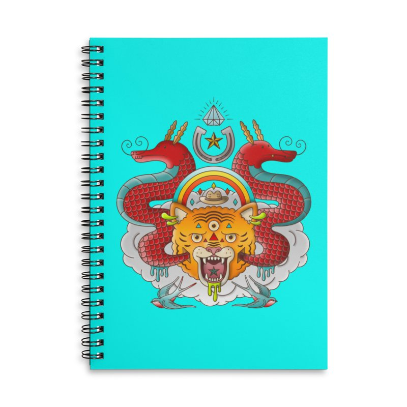Get Lucky Accessories Lined Spiral Notebook by Quick Brown Fox