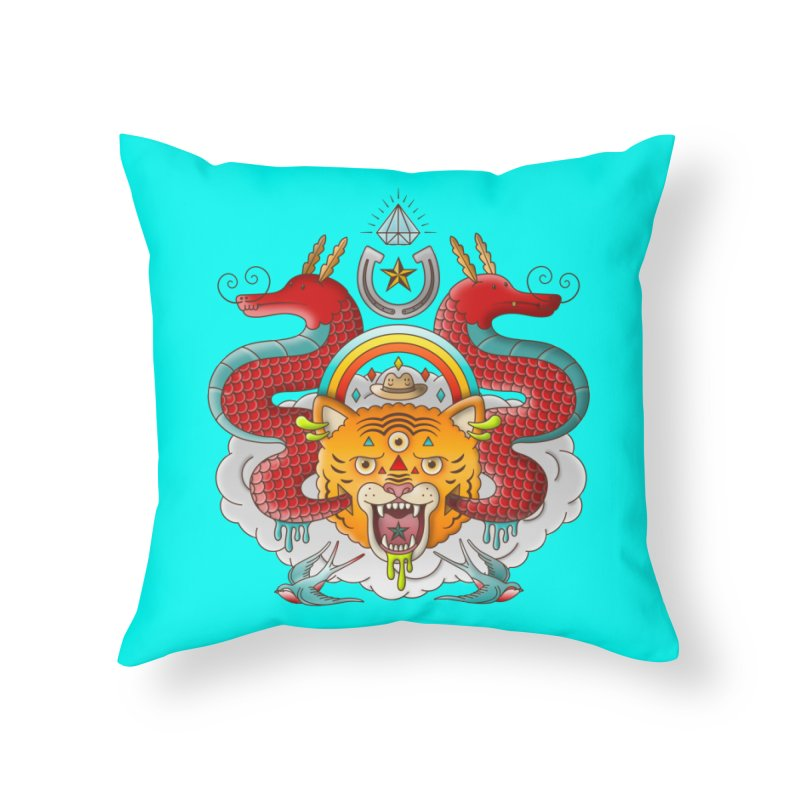 Get Lucky Home Throw Pillow by Quick Brown Fox