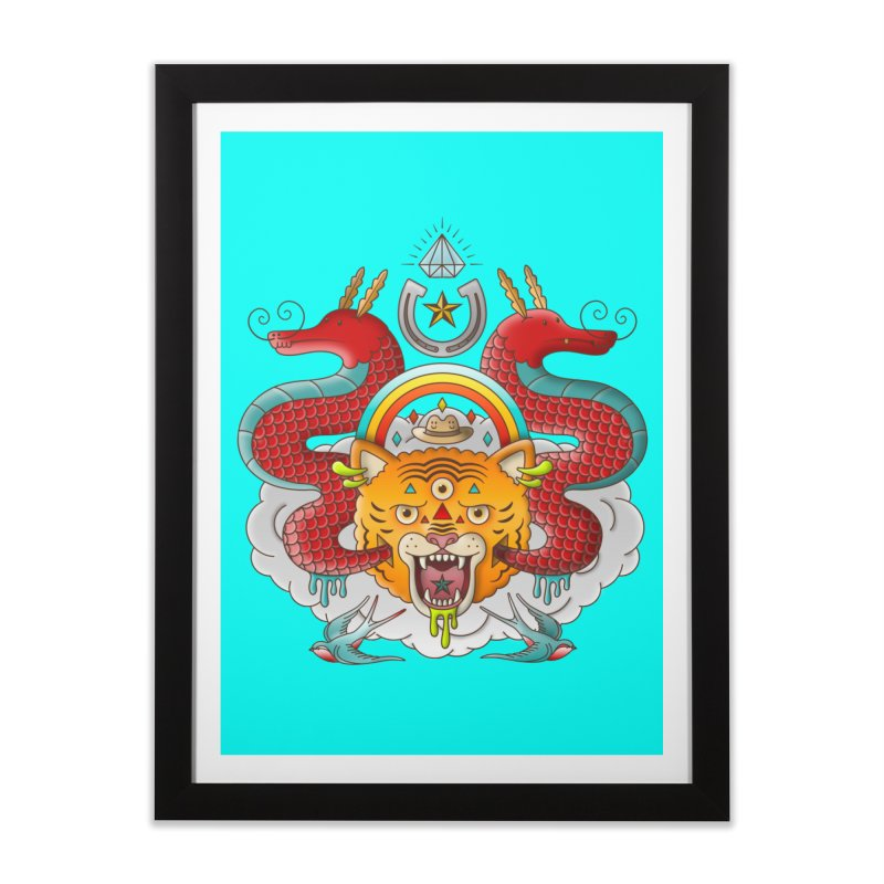Get Lucky Home Framed Fine Art Print by Quick Brown Fox