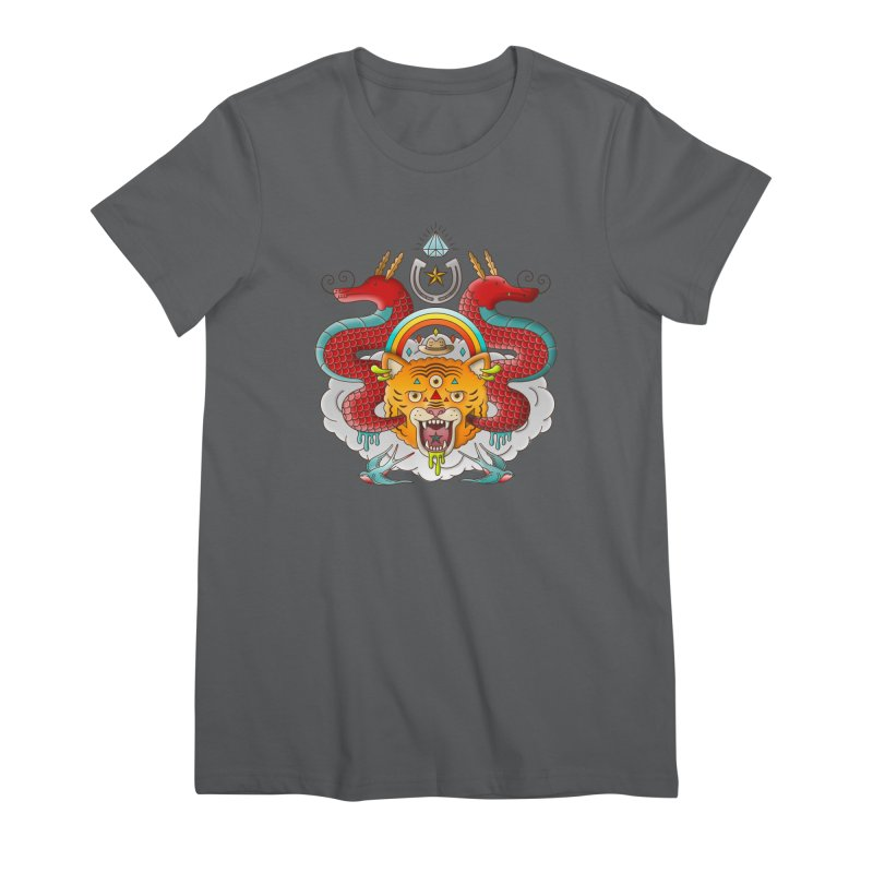 Get Lucky Women's Premium T-Shirt by Quick Brown Fox