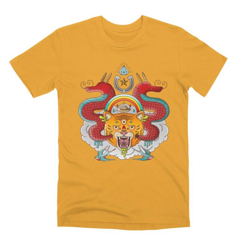 Get Lucky Men's Premium T-Shirt by Quick Brown Fox