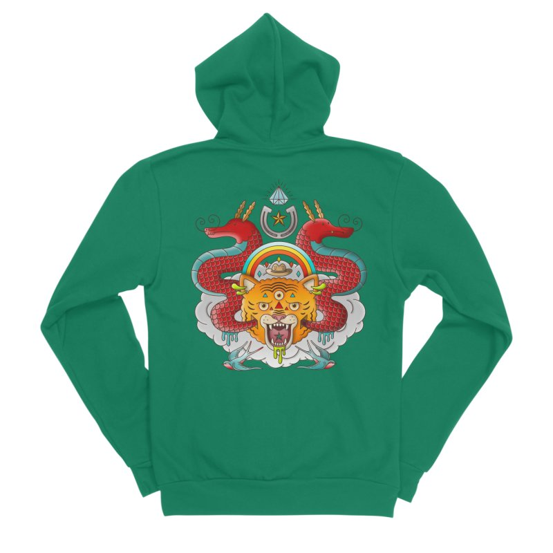 Get Lucky Women's Sponge Fleece Zip-Up Hoody by Quick Brown Fox