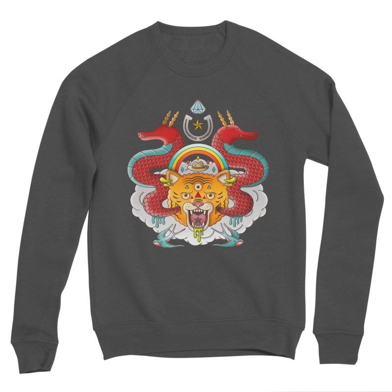 Get Lucky Men's Sponge Fleece Sweatshirt by Quick Brown Fox