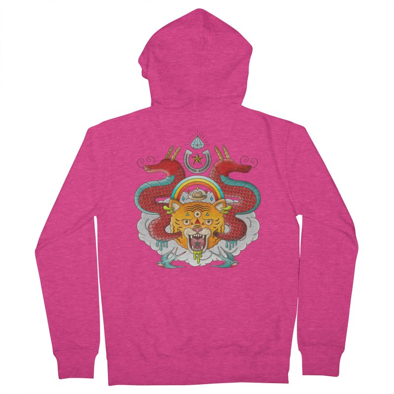 Get Lucky Women's French Terry Zip-Up Hoody by Quick Brown Fox
