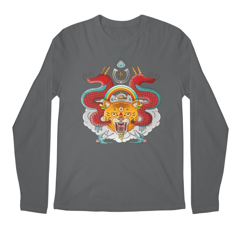 Get Lucky Men's Regular Longsleeve T-Shirt by Quick Brown Fox